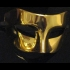 Half Face Gold Masquerade Mask